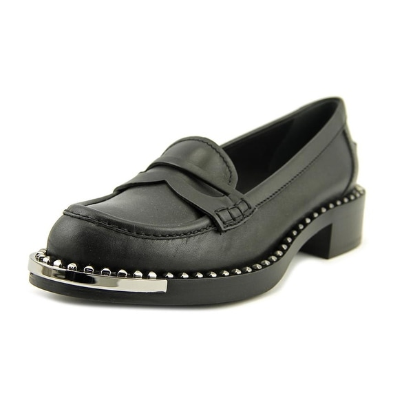 Miu Miu Vit Montana   Round Toe Leather  Loafer