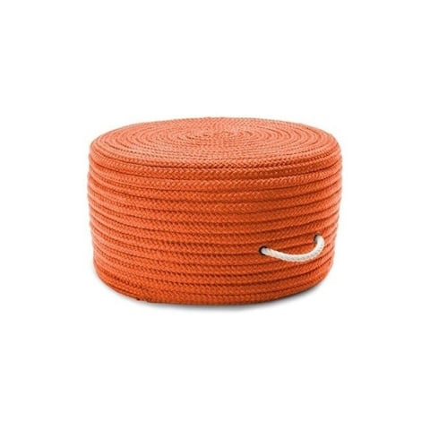Textured Solid Color Round Pouf/Ottoman