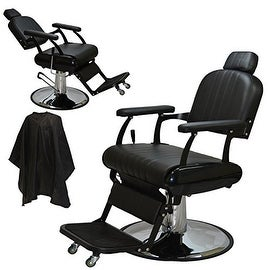 LCL Beauty Extra Large Classic Style Reclining Hydraulic Salon Chair