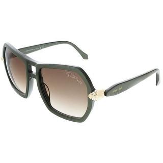 Roberto Cavalli RC927S/S 96B Khaki Green Square sunglasses
