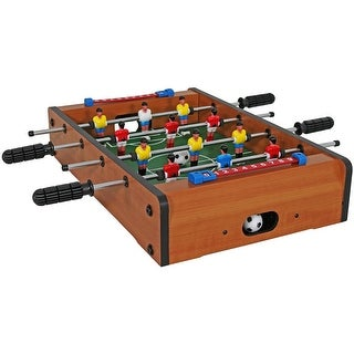 Sunnydaze 20-Inch Tabletop Foosball Table Game - Mini Sports Arcade Soccer