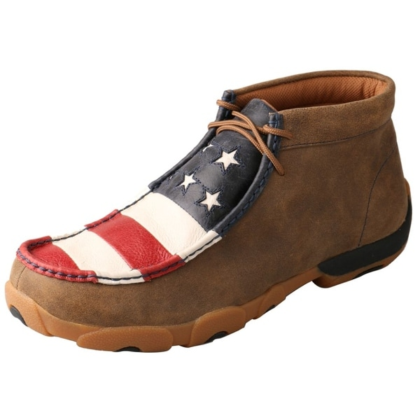 Twisted X Casual Shoes Mens Driving Moc Flag Bomber Red White