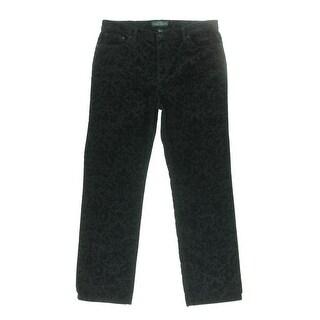 LRL Lauren Jeans Co. Womens Straight Leg Jeans Pattern Classic Fit