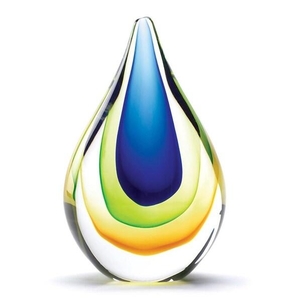 Natural Art Glass Teardrop