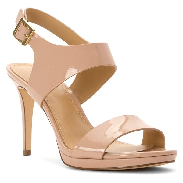 MICHAEL Michael Kors Womens Claudia Leather Open Toe Casual Ankle Strap Sandals