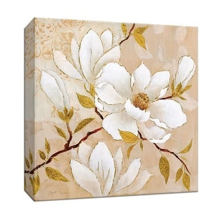 """PTM Images 9-146951  PTM Canvas Collection 12"""" x 12"""" - """"Golden Dogwood I"""" Giclee Flowers Art Print on Canvas"""