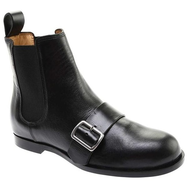 89679957986 Jil Sander Navy Women  x27 s Abeno Buckle Nappa Leather Biker Boot Black  Topic