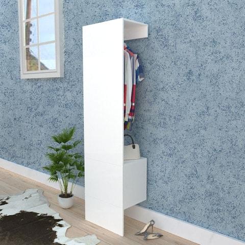 Nestfair White Open Wardrobe with 1 Door