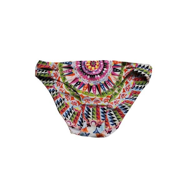 3e8c2b659a Bar Iii Pink Multi Cartwheels Printed Reversible Cutout Bikini Bottom S