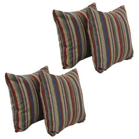 Blazing Needles 17-inch Square Throw Pillows (Set of 4)
