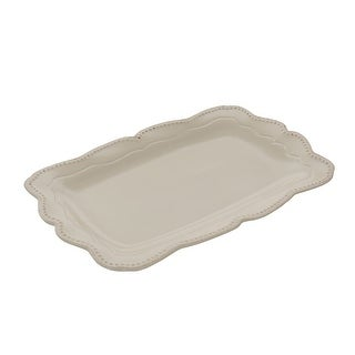 Link to Gibson Capri 14 Inch Stoneware Rectangle Platter in Sand Similar Items in Serveware