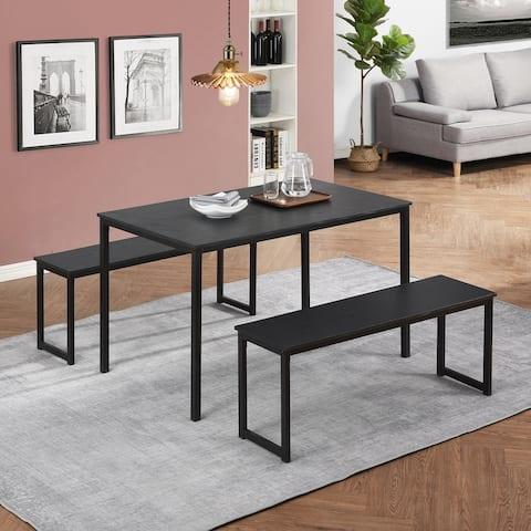 TiramisuBest 3 Piece Space-Saving Contemporary Dining Set