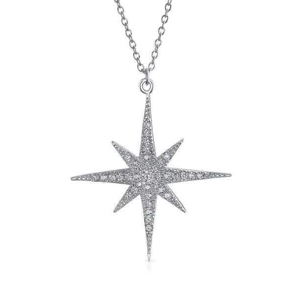 Shop bling jewelry 925 silver cz sparkling celestial star pendant bling jewelry 925 silver cz sparkling celestial star pendant necklace aloadofball Images