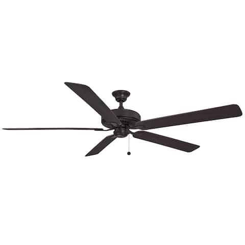 Edgewood 72 inch Indoor/Outdoor Ceiling Fan with Dark Walnut Blades - Dark Bronze - Dark Bronze