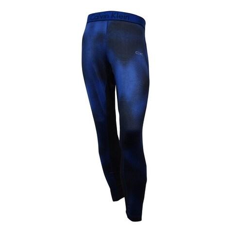 Calvin Klein Men's Mixed-Media Compression Pants (Mazarine Blue, XL) - marzarine blue - XL