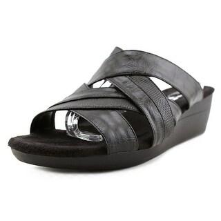 A2 By Aerosoles Flower Power Women  Open Toe Synthetic Black Slides Sandal