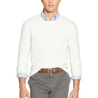 Polo Ralph Lauren Linen and Cashmere Crewneck Sweater Off White Medium M