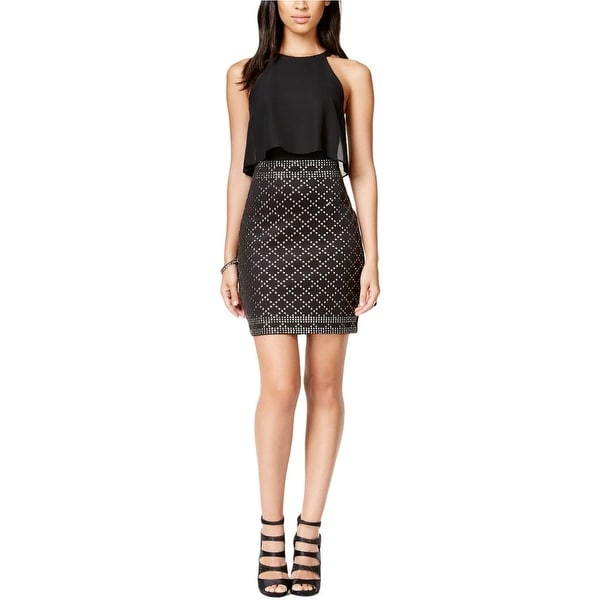 Shop Guess Womens Semi Formal Dress Embellished Popover Free
