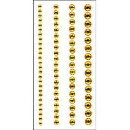 Round - Yellow - Crystal Stickers Elements 3Mm To 6Mm Assorted 76/Pkg
