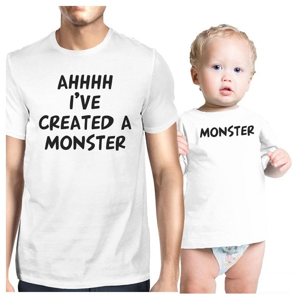072c3df2 Shop Created A Monster Dad and Baby Matching Gift T-Shirts Father's Day -  Free Shipping On Orders Over $45 - Overstock - 23108580