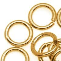 Brass JUMPLOCK Jump Rings 10mm Diameter 14 Gauge Thick (25)