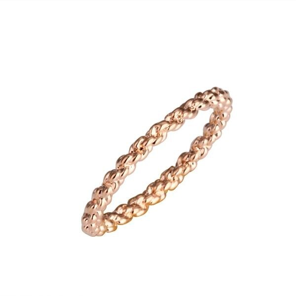 Rose Gold Plated Petite Encrusted Ring