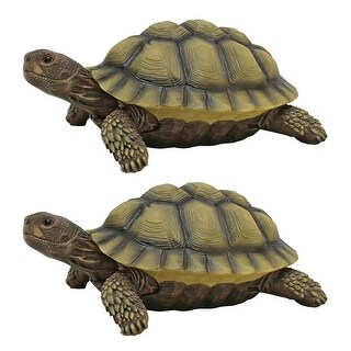 Design Toscano Gilbert, the Box Turtle Statues: Set of Two