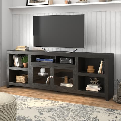 Copper Grove Combs Mocha Oak and Glass 96-inch TV Console