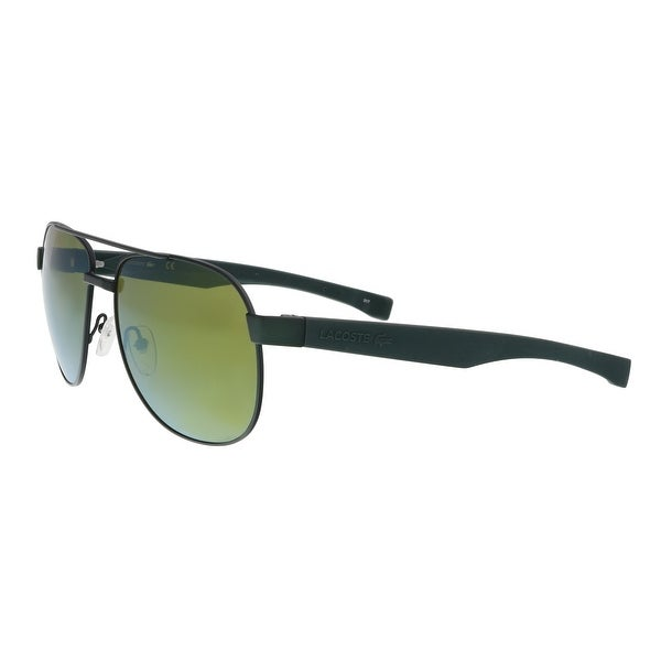 48c70717a72 Lacoste L186S 315 Green Matte Modified Rectangle Sunglasses - 57-16-140