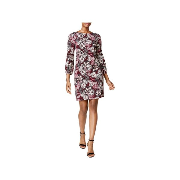 Jessica Howard Womens Petites Casual Dress 3/4 Sleeves Mini