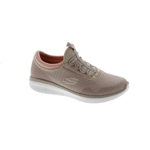 Skechers Women's Synergy 2.0-Mirror Image Fashion Sneaker - Natural/ Light Pink