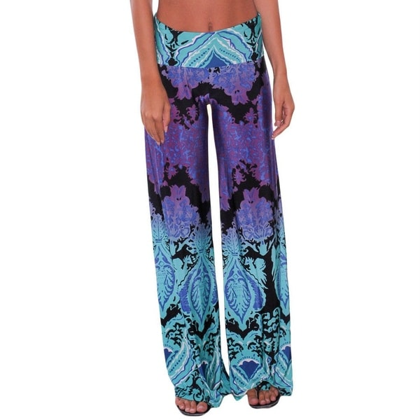 46ede3a95b905 Shop LOSRLY Blue Purple Womens Size Large L Boho Wide Leg Soft Pants - Free  Shipping On Orders Over  45 - Overstock.com - 27143866