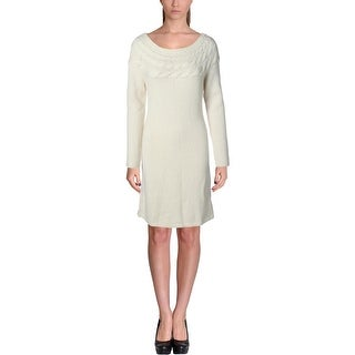 Lauren Ralph Lauren Womens Wool Knit Wear to Work Dress