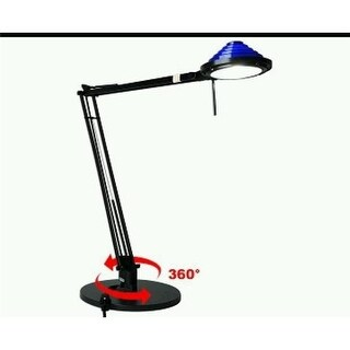 Round Table Base Swing Arm Desk Lamp 35 watt 12V Halogen Table Lam