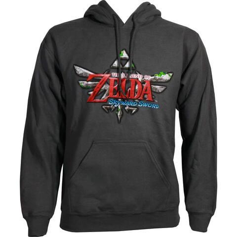 The Legend of Zelda: Skyward Sword Men's Gray Pullover Hoodie