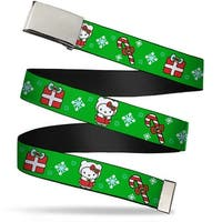 Blank Chrome Bo Buckle Hello Kitty Christmas 1 Webbing Web Belt