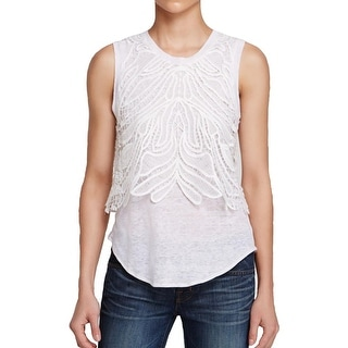Generation Love Womens Blouse Embroidered Lined