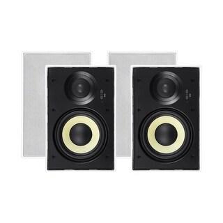 Monoprice In-Wall 2 Way Speakers - 6.5 Inch (pair) With Aramid Fiber And Titanium Silk Drivers - Caliber Slim Series