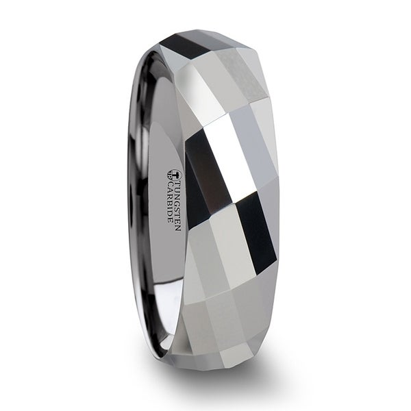 THORSTEN - ETERNITY Multi Faceted Tungsten Carbide Band - 6mm