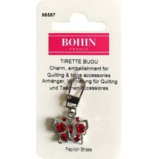 Red Butterfly - Bohin Decorative Charm