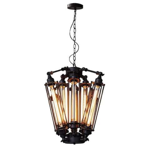 8 light loft black vintage industrial steampunk chandelier