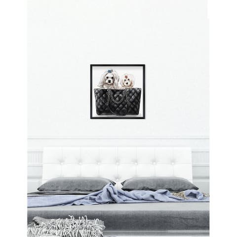 Oliver Gal 'Gentle Damsels in The Bag' Dogs and Puppies Wall Art