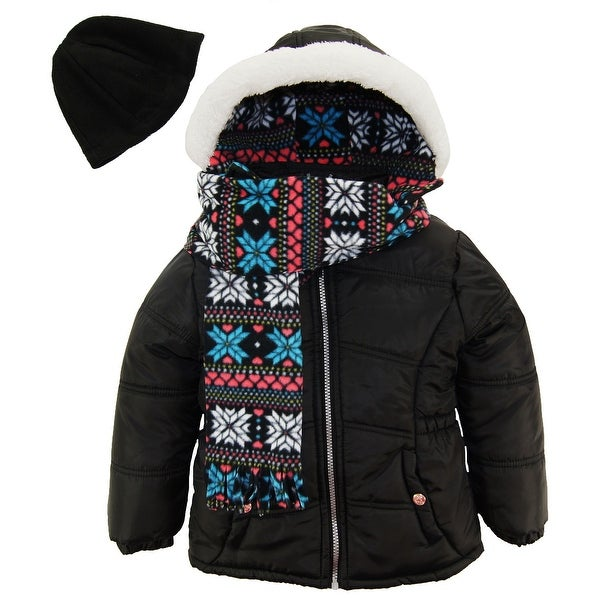 1e27aa2f3 Shop Pink Platinum Toddler Girl Quilted Winter Puffer Jacket ...