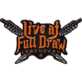 Legendary Whitetails Live at Full Draw Window Decal - Orange