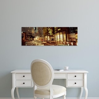 Easy Art Prints Panoramic Images's 'City lit up at night, Citycenter, The Strip, Las Vegas, Nevada, USA' Canvas Art