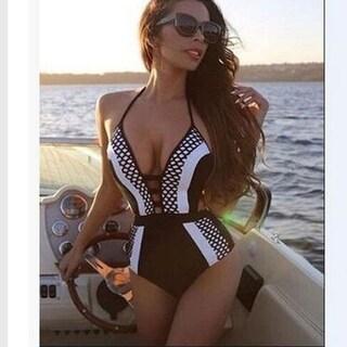 One Piece Swimsuit Deep V Swimwear Women Brazilian Bathing Suit Trikini Monokini Beachwear Swim Wear Swimming Suit
