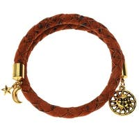 Orange Braided Cork Wrap Bracelet - Exclusive Beadaholique Jewelry Kit