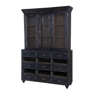 GuildMaster 604001 Farmhouse 52 Inch Wide Mahogany Cabinet