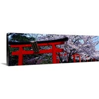 Premium Thick-Wrap Canvas entitled Japan, Kyoto, Takenaka Inari Shrine - Multi-color
