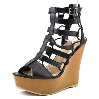 Qupid Kendall-12 Women Open Toe Synthetic Platform Sandal